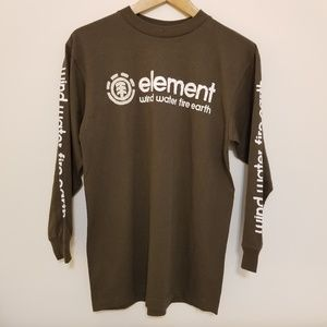 Men's Element Olive Long Sleeve Tee, Sz S